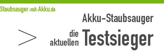 Akku-Staubsauger Testsieger